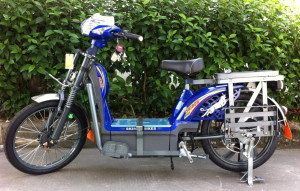 blue electric bike by Skiron